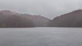 Embalse de Santa Fe, parque natural del Montseny (Barcelona) un dia de lluvia - 234131391