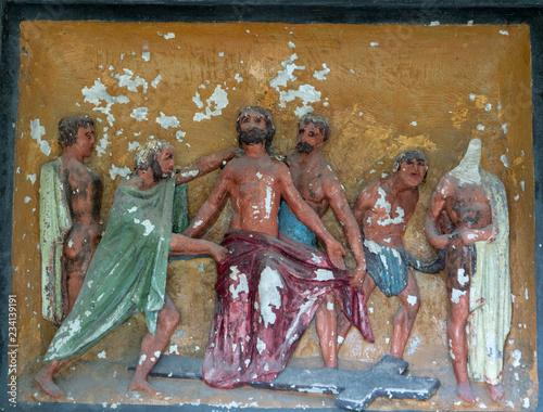 fresque cruxifiction christ