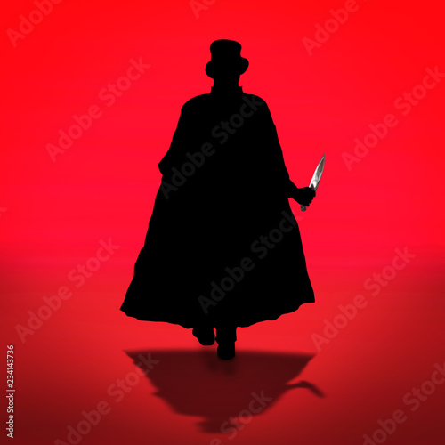 Jack the Ripper in action Canvas Print