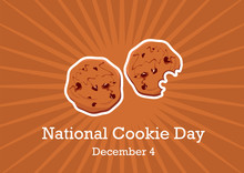 National Cookie Day Vector. Chocolate Cookies Vector. Cookies On A Brown Background. American Sweet Biscuits. Important Day