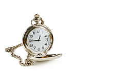 Old Pocket Watch Isolated On W...