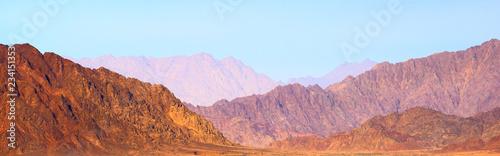 Tuinposter Panoramic view of Sinai mountains in Egypt