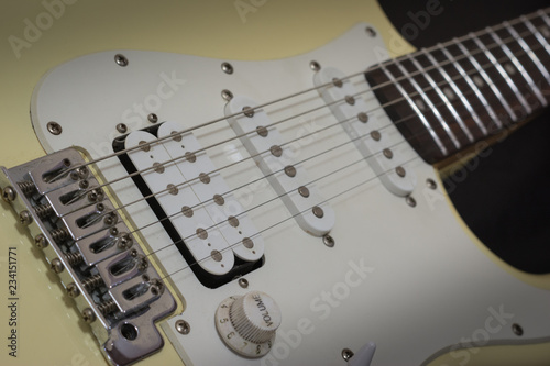 Photo  Solo electric lead guitar, rock music concept