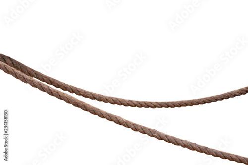 Obraz na plátně  Jute rope isolated on a white background.