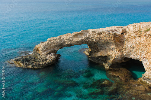 Autocollant pour porte Chypre Beautiful morning view of the Bridge of Lovers near of Ayia Napa, Cavo Greco and Protaras, Cyprus