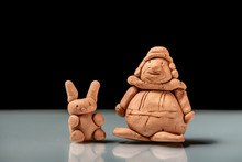 Small Figurines Made Of Clay By A Child