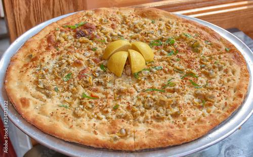 Clam Pizza Pie Fototapet