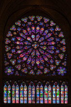 Rose Window At Notre Dame De P...