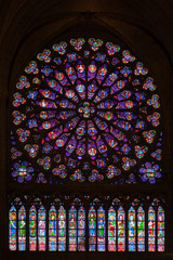 Rose window at Notre Dame de Paris