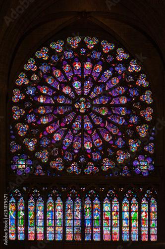 Photo  Rose window at Notre Dame de Paris
