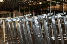 Matalic Pieces Galvanized On Zinc Bath