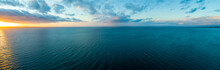 Wide Aerial Panorama Of Sunset...