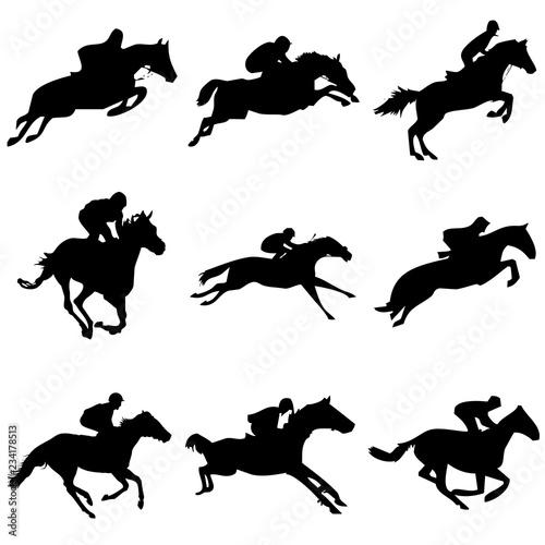 Fotografie, Obraz  Carrera de caballos