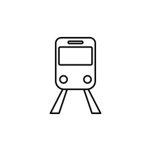 Train Station Sign Icon. Element Of Navigation Sign Icon. Thin Line Icon For Website Design And Development, App Development. Premium Icon