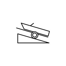 Boat Ramp Sign Icon. Element Of Navigation Sign Icon. Thin Line Icon For Website Design And Development, App Development. Premium Icon