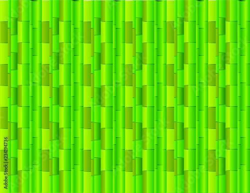 Photographie Abstract green background using many straight bamboos for presentation vector il