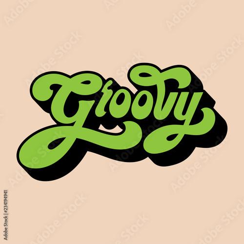 Groovy word typography style illustration Tapéta, Fotótapéta