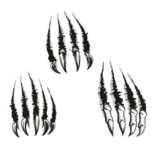 Monster Beast Claws And Scratc...