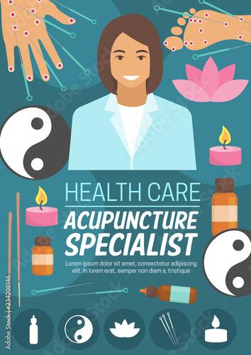 Medicine or spa, acupuncture doctor Canvas Print