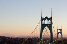 Portland's St. Johns Bridge At...