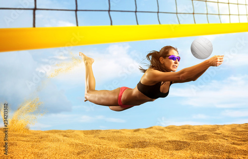 Female volleyball beach  player