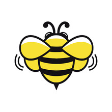 Honey Bee Cartoon Mascot Logo Icon