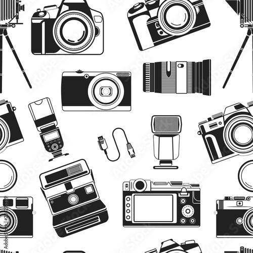 aparat-fotograficzny-przenosny-sprzet-starego-stylu-urzadzenia-dla-fotografow-wektor-wzor