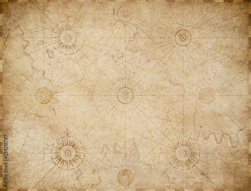 old medieval nautical map background