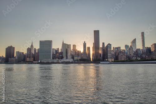 Foto op Aluminium Shanghai Sunset over east river