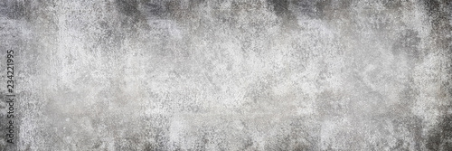 Fotografía  Wide gray concrete wall abstract background