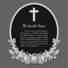 Black And White Rose Funeral C...
