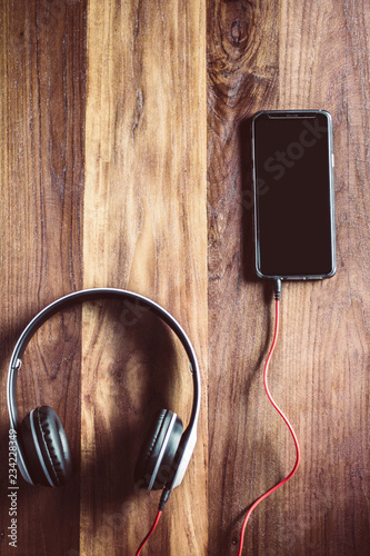 White Headset And Mobile Phone With Sunset Top View And Instagram Style Filter Photo Vintage Tone Buy This Stock Photo And Explore Similar Images At Adobe Stock Adobe Stock