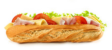 Baguette Sandwich Isolated On ...