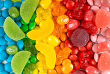 Background Of Mixed Colorful Candies