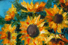 Sunflowers Oil Art Imressionis...