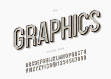 Vector Bold Graphics Font Tren...