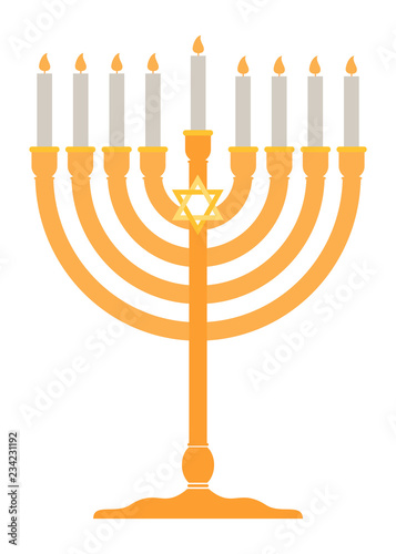 Menorah for Hanukkah icon Canvas Print