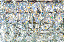 Diamond Crystal Glass Reflect Texture Pattern Luxury Background.