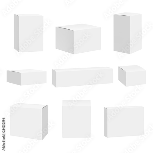 Blank white box Fototapete