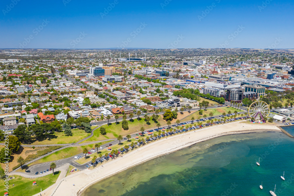 Fototapety, obrazy: Aerial photo of Geelong in Victoria, Australia