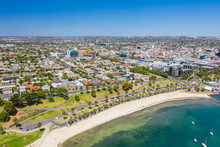 Aerial Photo Of Geelong In Vic...