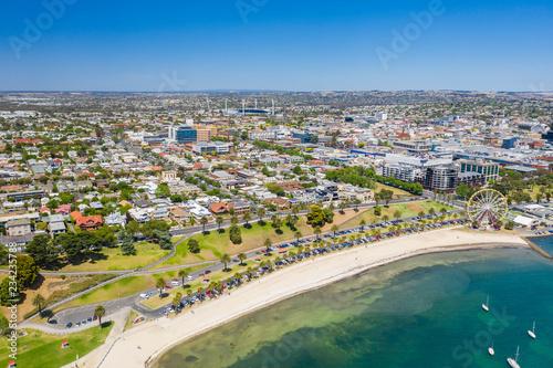 Obraz Aerial photo of Geelong in Victoria, Australia - fototapety do salonu