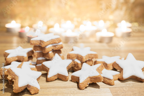 Delicious Christmas Biscuits Cinnamon Cookies Buy This Stock