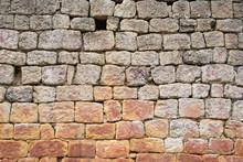 Vieux Mur De Pierre Irrégulier
