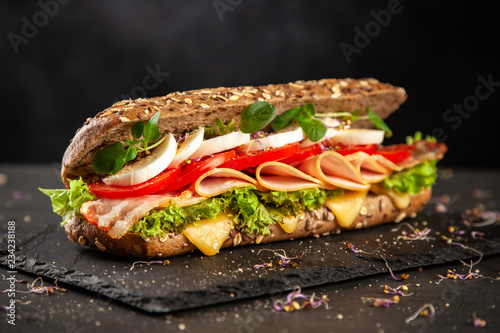 Foto op Canvas Snack Classic BLT sandwiches