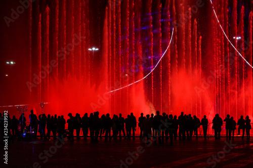 Plakat tłum ludzi na koncercie