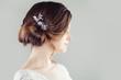 Leinwandbild Motiv Bridal hairdo. Updo hair with hairdeco