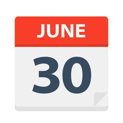 June 30 - Calendar Icon