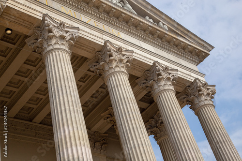 Canvas Prints Historical buildings Vintage Old Justice Courthouse Column