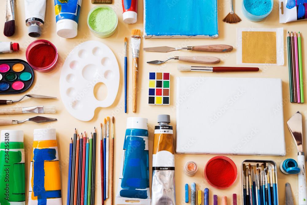 Fototapety, obrazy: Painting equipment